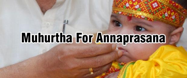 Muhurtha for Annaprasana