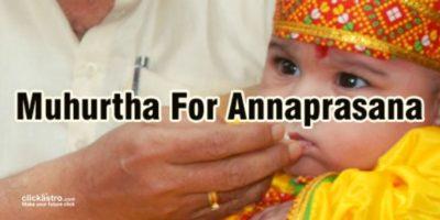Annaprasana muhurtha
