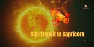 sun transit in Capricorn