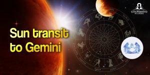 sun transit 2021 in Gemini