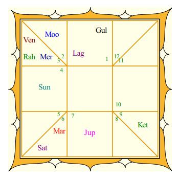 Priyanka's Rasi Chart